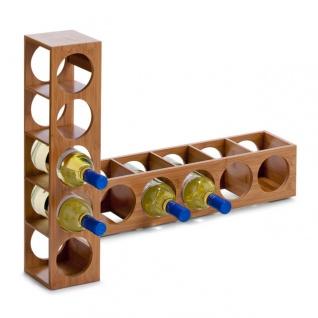Bambus Weinregal Weinständer Flaschenständer Flaschenregal - 5 Flaschen