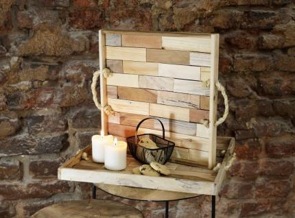 Home Styling Collection Serviertablett Aus Holz, 2er Set - Vorschau 2