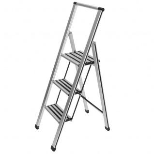 Aluminiumleiter, 3-stufig - weiß, WENKO - WENKO