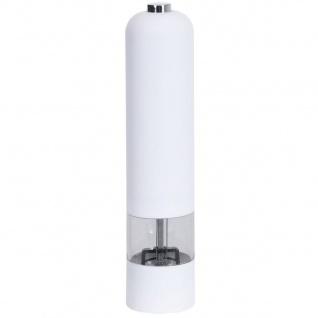 Elektrische Salzmühle, 22 cm, weiß