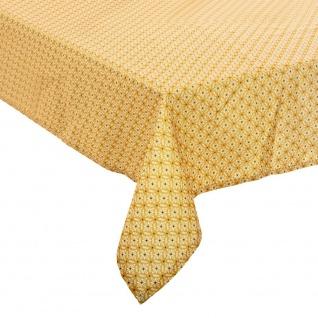 Tischdecke, schmutzabweisend, Motiv Paty, 140 x 240 cm, Gelb
