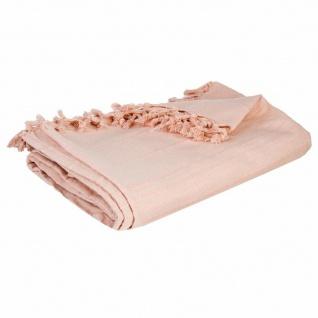Bettdecke aus Baumwolle, Rosa, perfekte Tagesdecke für Ihr Bett oder Sofa für Ihr Schlafzimmer und Wohnzimmer.