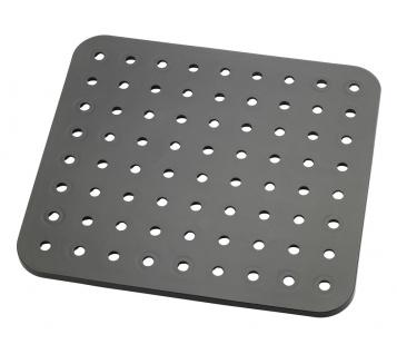 Wenko Spülbeckeneinlage Kristall Extra stark, eckig, Kunststoff, schwarz, 27, 5 x 31 x 1 cm