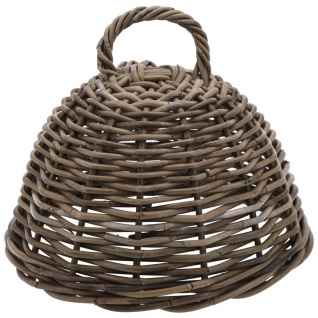 CUBU Lampenschirm, geflochtene Lebensmittelabdeckung - Rattan, Ø 33 cm - EH Excellent Houseware