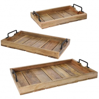 Knietablett aus Holz, Serviertabletts - 3 Stück im Set
