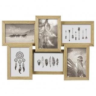 Rahmen für mehrere Fotos, Fotorahmen an der Wand, Holzrahmen 10X15