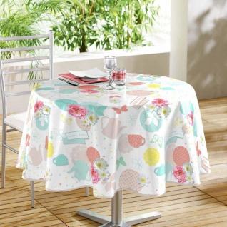 Runde Tischdecke TEA PARTY, Ø 160 cm, weiß