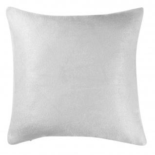 SHADOW Kissenbezug 40 x 40 cm, weiß - Douceur d'intérieur