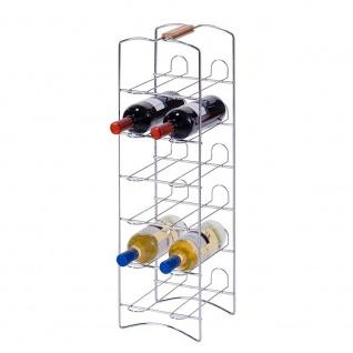 ZELLER Weinregal, Metall verchromt - für 12 Flaschen