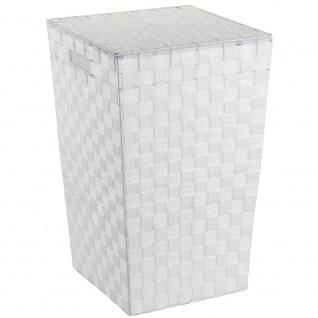 Dekorativer Wäschekorb Adria WENKO 48l, geschlossener Badezimmer-Behälter mit Griffen - WENKO