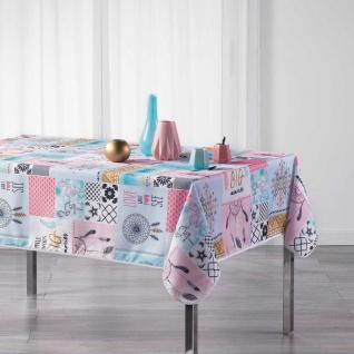 Tischdecke, rechteckig, OPTMA, 150 x 240 cm, weiß mit Aufdruck