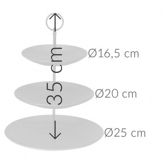 Etagere aus Keramik mit 3 Ebenen - Vorschau 5