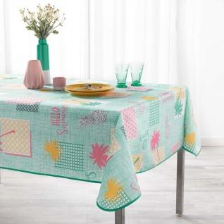 Tischdecke, rechteckig, PLAYA, 150 x 240 cm, pfefferminzgrün mit Aufdruck