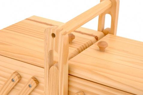Neu NÄhbox Klappbar - 5 Fächer Nähkästchen Holz Nähkiste Nähkasten - Vorschau 3