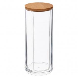 Wattepadspender SELENA, Bambus-Deckel