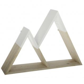 Dekoratives Wandregal Dreiecke, Hängerega, Holzregale 40 cm x 27, 5 cm x 8 cm