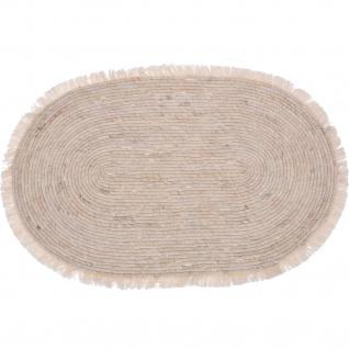 Maisstrohteppich für Wohnzimmer, oval, 80 x 50 cm