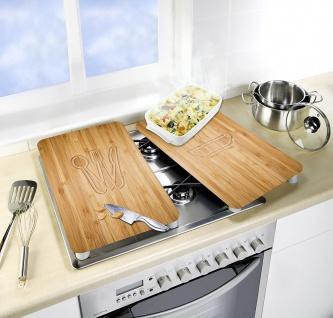 WENKO Glasschutzplatten für den Ofen, Herdabdeckplatte Universal Lunch 2 Stück