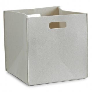 Aufbewahrungskorb, quadratisch, Filz - Behälter 33l, türkis, ZELLER