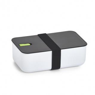 Lunchbox mit Fach, 19 x 12 x 6, 5 cm, weiß+rosa Einsatz, ZELLER - ZELLER