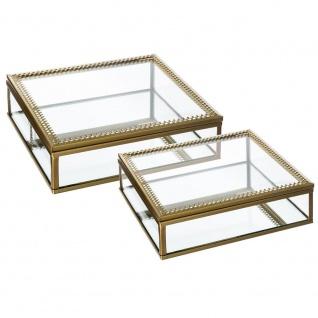 Zwei Schmuckkästchen, transparente und Glasbehälter für kleine Gegenstände, stilvolle Dekoration für Ihr Zuhause.
