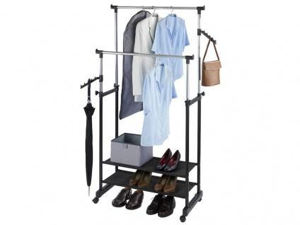 WENKO Kleiderständer Kleiderstange Rollenständer Garderobenstände Aufbewahrung