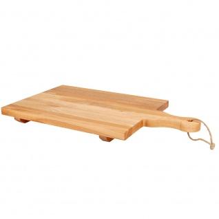 Schneidebrett aus Holz, rechteckig mit Beinen 46x26cm