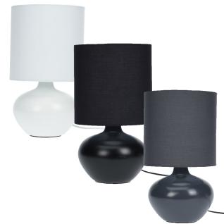 Tischlampe, Keramik, stehend - schwarzeFarbe