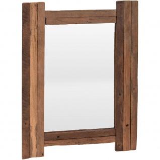 Wandspiegel, Quadratischer Spiegel, Teakholz 70 x 50 cm, rustikale