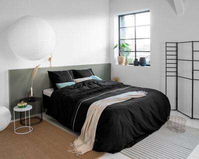 Bettwäsche MELIA Baumwolle schwarz 135 x 200 cm PRIMAVERA DELUX - Royal Textil