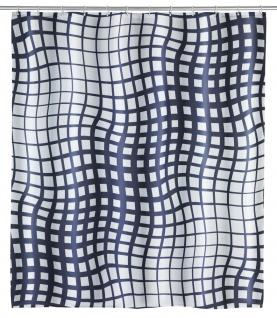 Duschvorhang mit 12 Ringen inkl. Wasserdichter Badvorhang mit Grafik - 200 x 180 cm WENKO