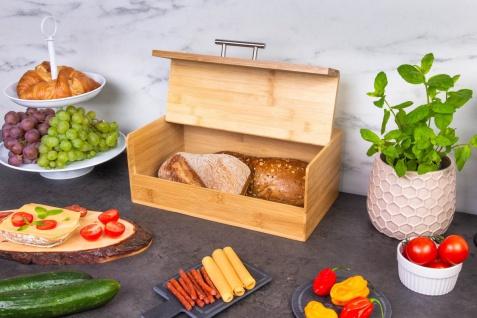 Bambus Brotdose mit Deckel Brotbacker Retro Brotdose Lebensmittelbehälter Kesper - Kesper