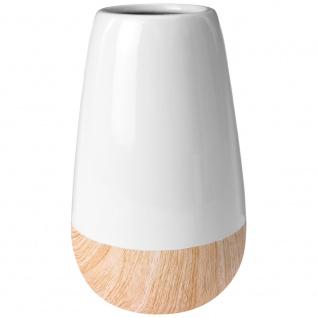 Keramik Vase WOOD LOOK H:22cm ?13cm
