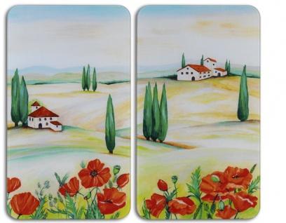 Wenko Glasabdeckplatte Abdeckplatten Herdabdeckplatte Universal Toscana 2er