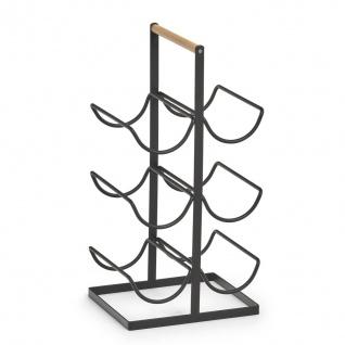 Weinregal aus Metall, 6 Speichen, 46 cm, schwarz, ZELLER - ZELLER