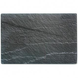 ZELLER, Schneidebrett, Glasschneideplatte Schiefer, Anthrazit, 30x20 cm