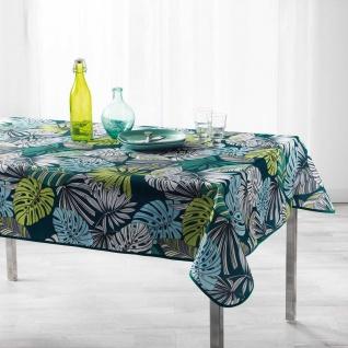 Tischdecke, rechteckig, CAP NATURE, 150 x 200 cm, dunkelblau, Blätter-Motiv
