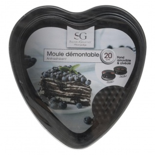 Herzförmiger Kuchen, 20x20x7 cm, Metall - Secret de Gourmet - Vorschau 2