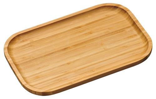 Servierbrett, Küchenaccessoires, Teller, Tablett, Bambus FSC, klein