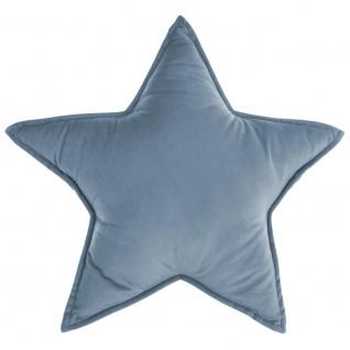 Kissen in Form von Stern, 49 x 49 cm, Blau/Grau