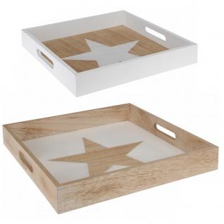 2 x Küchentablett aus Holz STAR