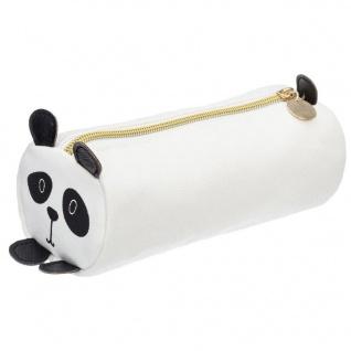 Federmäppchen für Kinder, Motiv Katze, 18x7 cm, grau - Atmosphera for kids