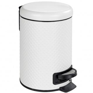 Müllkorb mit Deckel und Fuß, Abfallbehälter - 3 l, WENKO