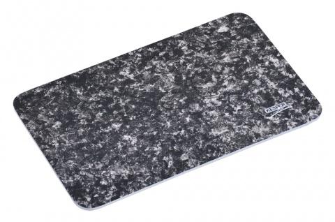 Dekoratives Schneidebrett aus Melamin imitiert Marmor, Dekorplatte 30x19 cm