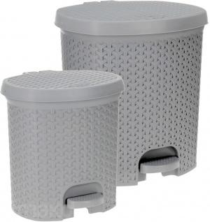 Mülleimer mit Pedal BEL CASA 2 Stück: 6, 5L und 13, 5L