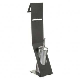 FIVE 2-in-1 Toilettenpapierhalter und WC-Bürste, silberfarben - 5five Simple Smart
