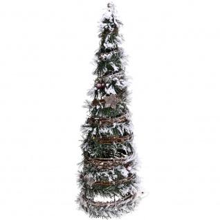 Künstlicher Weihnachtsbaum LED Rattan mit Hintergrundbeleuchtung 37 cm - Home Styling Collection