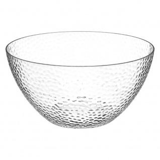 Salatschüssel aus Kunststoff, transparent, Ø 25, 5 cm