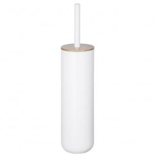 WC-Bürste und Behälter geschlossen mit Deckel, WC-Set POSA Kunststoff und Bambus - WENKO