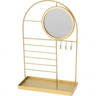 Schmuck-Organizer mit Spiegel, 21 x 33 cm, golden